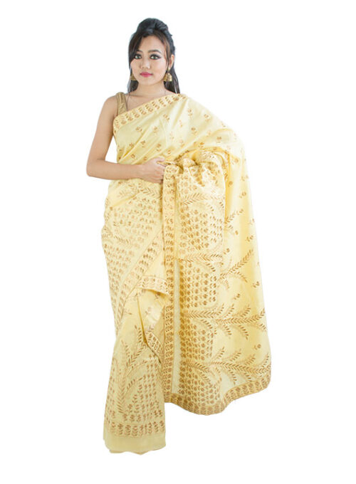 Heavy Zari Embroidery Mekhela Chadar