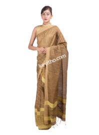 Yellow and Muga Khadi Silk Mekhela Chador